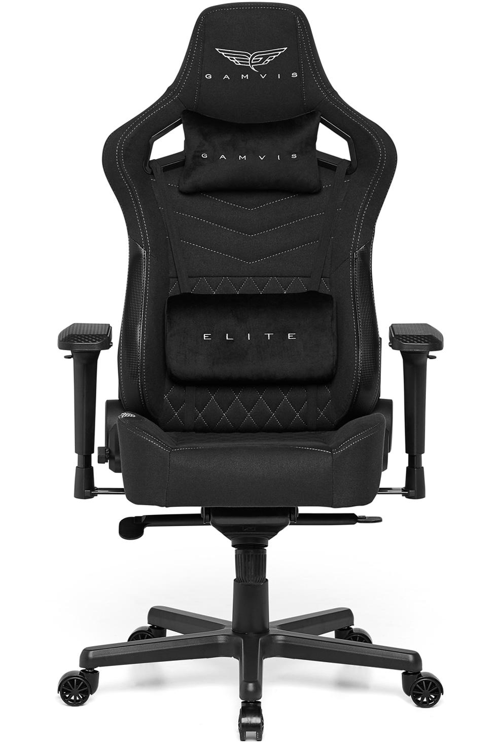 Gamvis ELITE 2.0 XL Fabric Gaming Chair – Black/Diamond White