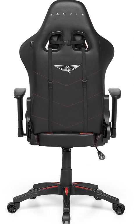 Gamvis Expert Gaming Chair Black Red Fabric