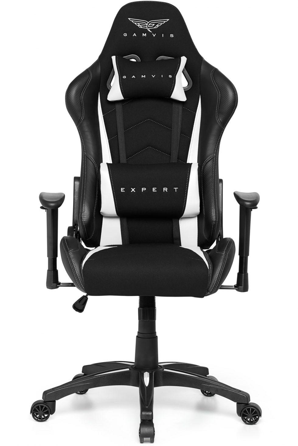 Gamvis EXPERT Fabric Gaming Chair - Black/White