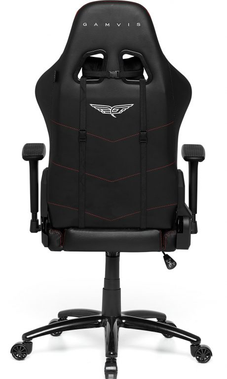 Gamvis Phantom Gaming Chair Black Red Fabric
