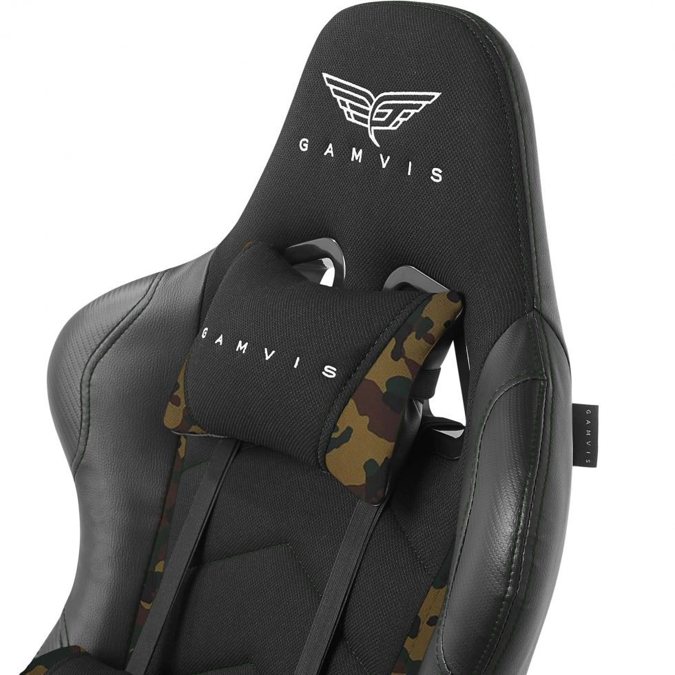 Gamvis EXPERT Fabric Gaming Chair - Black/Green Camo