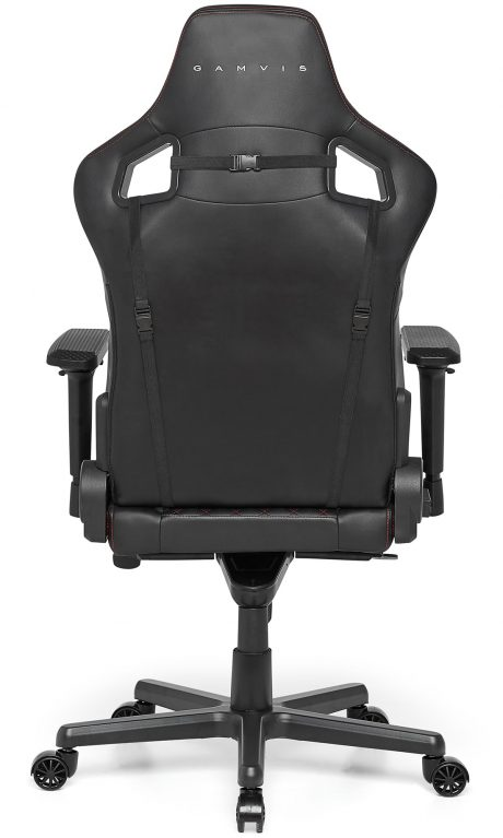 Gamvis Elite gaming chair quilted leather black red