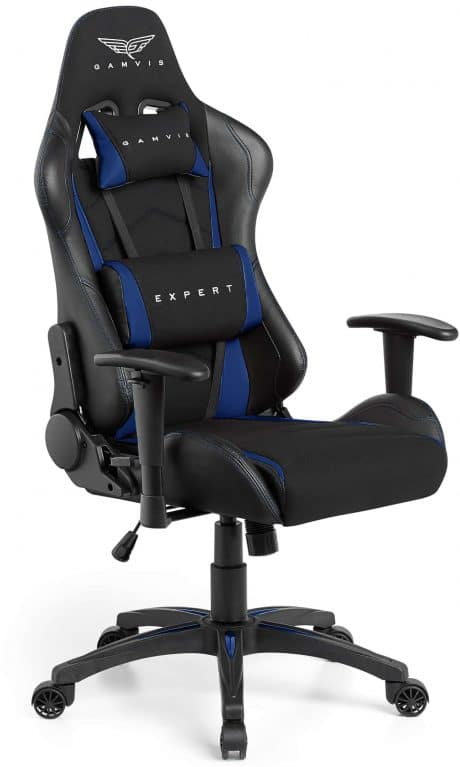 Gamvis Expert Gaming Chair Black Blue Fabric