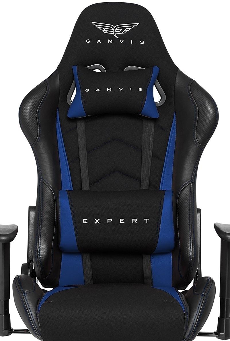 Materiałowy Fotel Gamingowy Gamvis EXPERT Niebieski