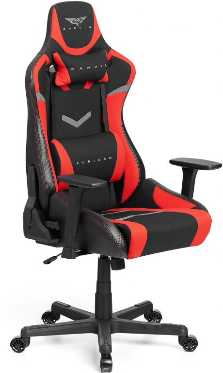 Gamvis Furioso Gaming Chair Black Red Fabric
