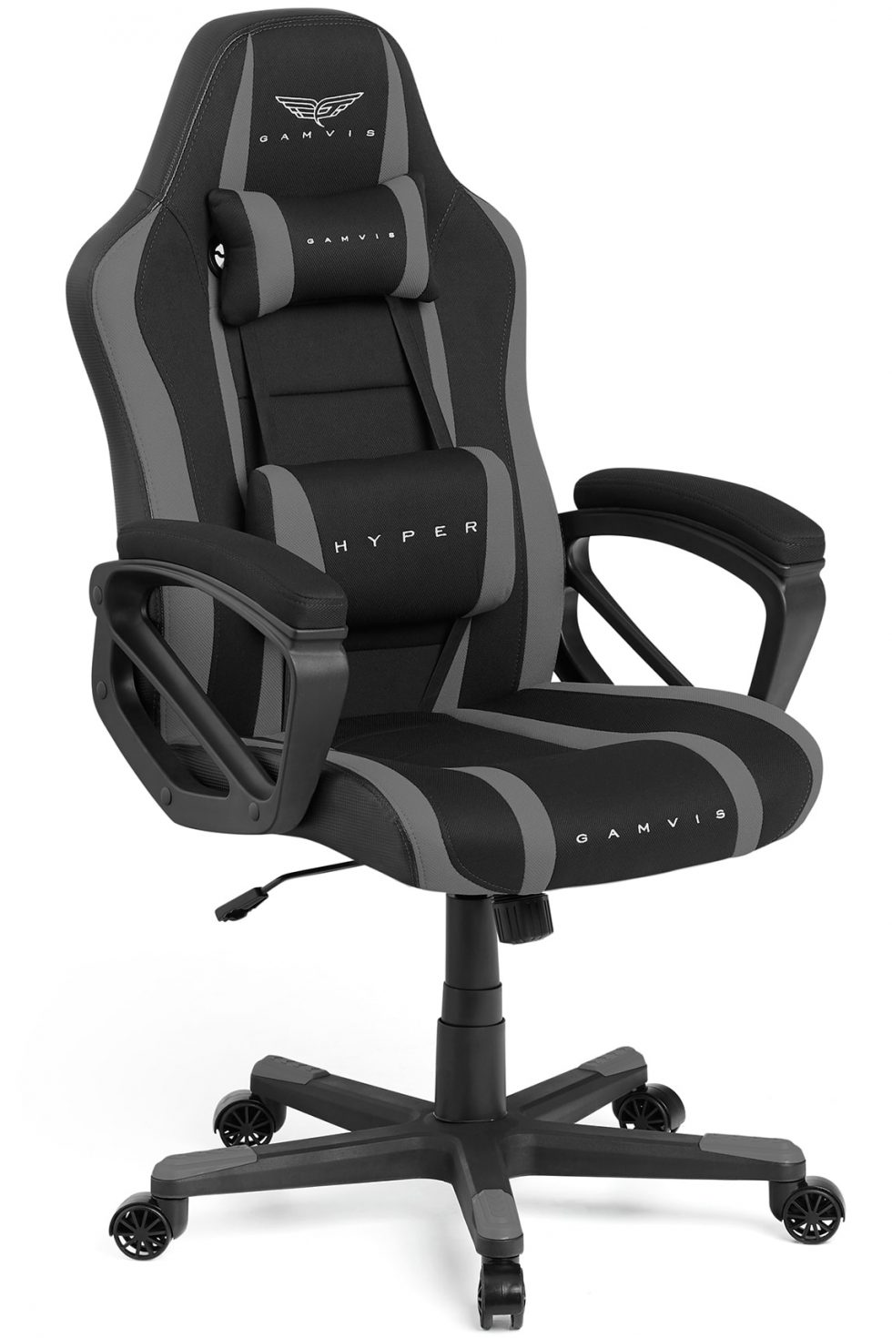 Gamvis Hyper Gaming Chair Fabric Black Gray