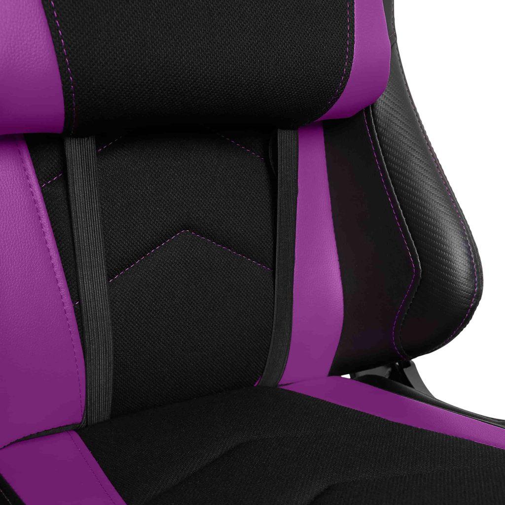Gamvis EXPERT Fabric Gaming Chair - Black/Plum Purple