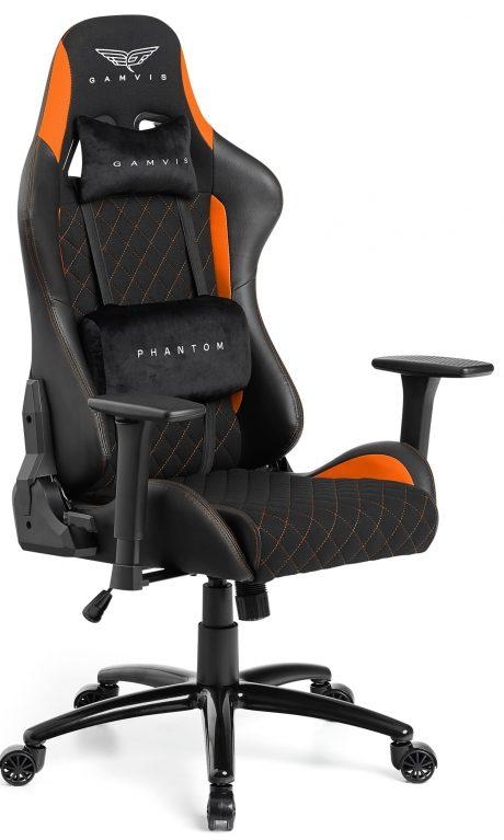 Gamvis PHANTOM Fabric Gaming Chair - Black/Orange